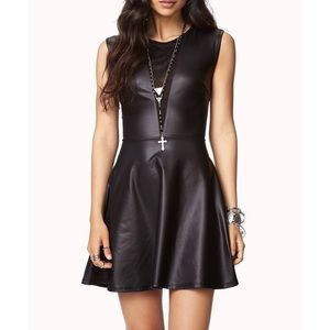 Forever 21 leather dress